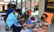 Sukarela, Anggota Korem 081/DSJ Berbondong-Bondong Sumbangkan Darahnya