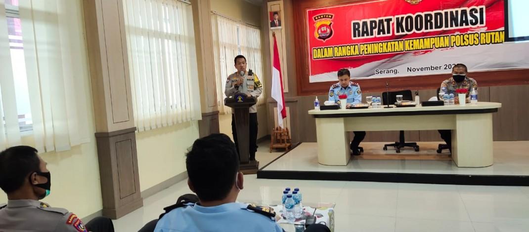 Tingkatkan Kemampuan Polsus, Dirbinmas Polda Banten Gelar Rapat Koordinasi Dengan Rutan Serang