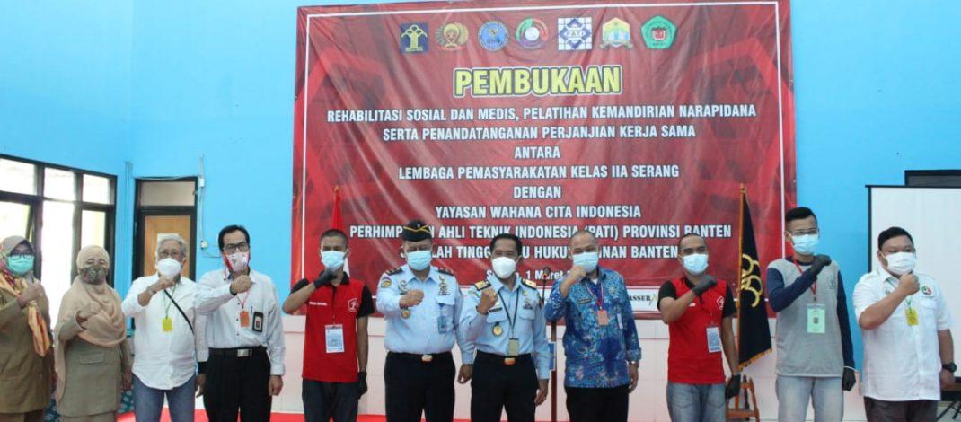 Lapas Serang Gandeng Yayasan Wahana Citra Indonesia, PATI dan STIH Painan dalam Memberikan Pelatihan WBP