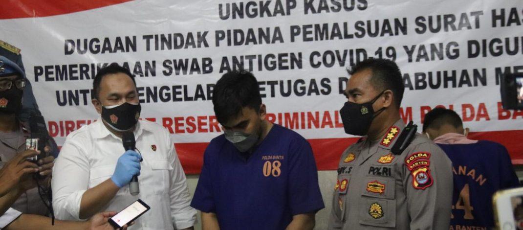 Ditreskrimum Polda Banten Tangkap 5 Tersangka Pemalsu Hasil Test Swab