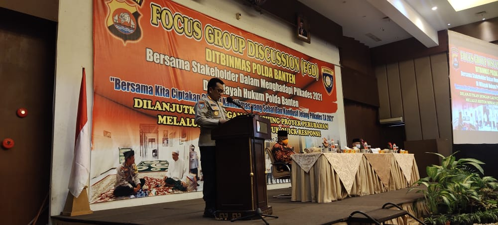 Jelang Pilkades 2021, Ditbinmas Polda Banten Bersama Stakeholder Gelar FGD